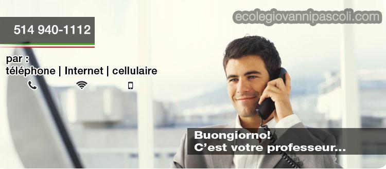 cours en ligne italien formation distance